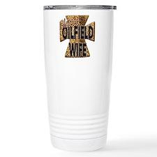 Leopard Print Blessed Oilfield Wife Cross Travel M