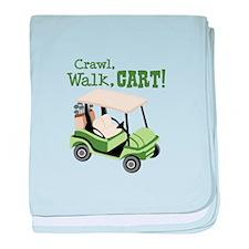 Crawl, Walk, Cart! baby blanket