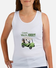 Crawl, Walk, Cart! Tank Top