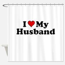 I Heart My Husband Shower Curtain
