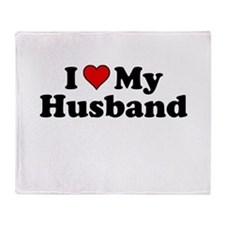 I Heart My Husband Throw Blanket