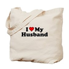 I Heart My Husband Tote Bag