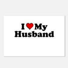 I Heart My Husband Postcards (Package of 8)