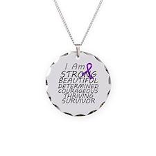 Leiomyosarcoma Strong Survivor Necklace Circle Cha
