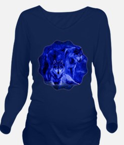 Winter Wolves Long Sleeve Maternity T-Shirt