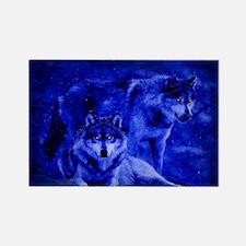 Winter Wolves Rectangle Magnet