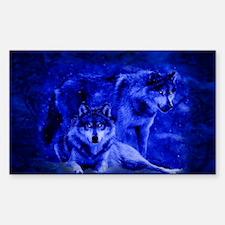Winter Wolves Sticker (Rectangle)