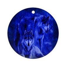 Winter Wolves Ornament (Round)