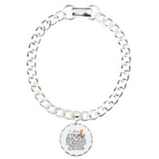 Kidney Cancer Strong Survivor Charm Bracelet, One