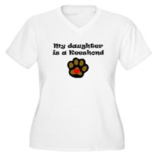 My Daughter Is A Keeshond Plus Size T-Shirt