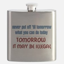 Illegal Tomorrow Flask