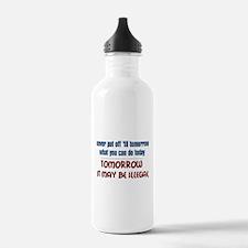 Illegal Tomorrow Water Bottle