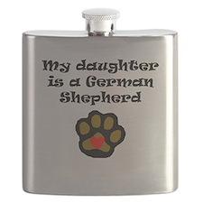 My Daughter Is A German Shepherd Flask