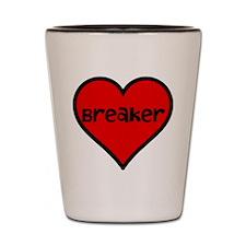 Heart Breaker Shot Glass