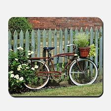 Vintage Floral Bicycle Mousepad