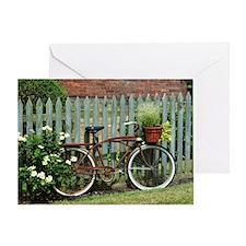 Vintage Floral Bicycle Greeting Card
