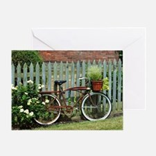 Vintage Floral Bicycle Greeting Card