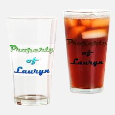 Property Of Lauryn Female Drinking Glass