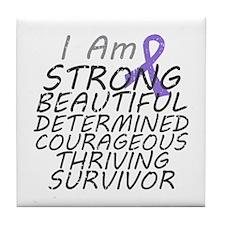 Hodgkins Lymphoma Strong Survivor Tile Coaster