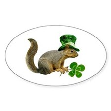 Leprechaun Squirrel Decal