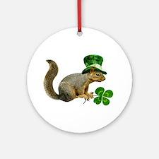 Leprechaun Squirrel Ornament (Round)