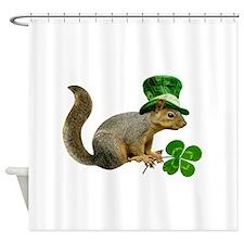 Leprechaun Squirrel Shower Curtain