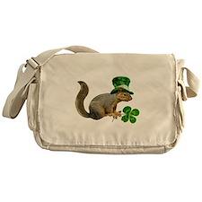 Leprechaun Squirrel Messenger Bag