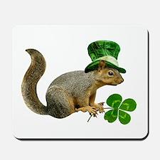 Leprechaun Squirrel Mousepad