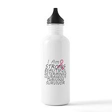Breast Cancer Strong Survivor Water Bottle