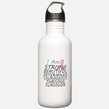 Breast Cancer Strong Survivor Water Bottle