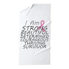 Breast Cancer Strong Survivor Beach Towel