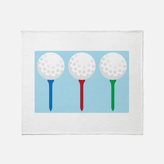 Golf Tees and Balls Throw Blanket