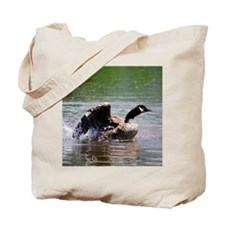 Canada Goose Surfing Waves Tote Bag