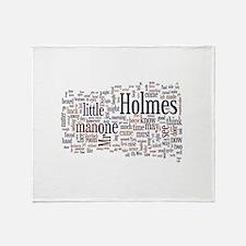 Sherlock Holmes Word Cloud Throw Blanket