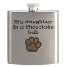 My Daughter Is A Chocolate Lab Flask