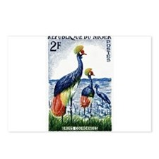 1960 Niger Grey Crowned Crane Postage Stamp Postca