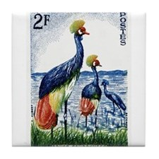 1960 Niger Grey Crowned Crane Postage Stamp Tile C