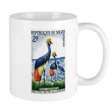 1960 Niger Grey Crowned Crane Postage Stamp Mugs