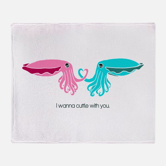 Cuttle with You Throw Blanket