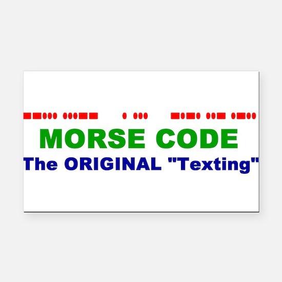 Cute Morse code Rectangle Car Magnet