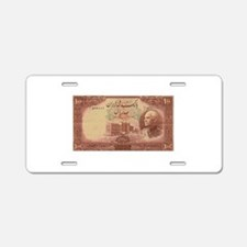 old money 3 Aluminum License Plate