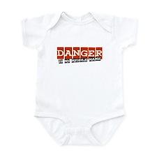 Danger is my middle name Infant Bodysuit