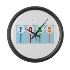 FORE Large Wall Clock