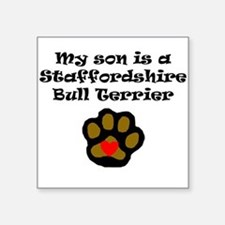 My Son Is A Staffordshire Bull Terrier Sticker
