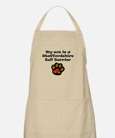 My Son Is A Staffordshire Bull Terrier Apron
