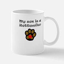 My Son Is A Rottweiler Mugs