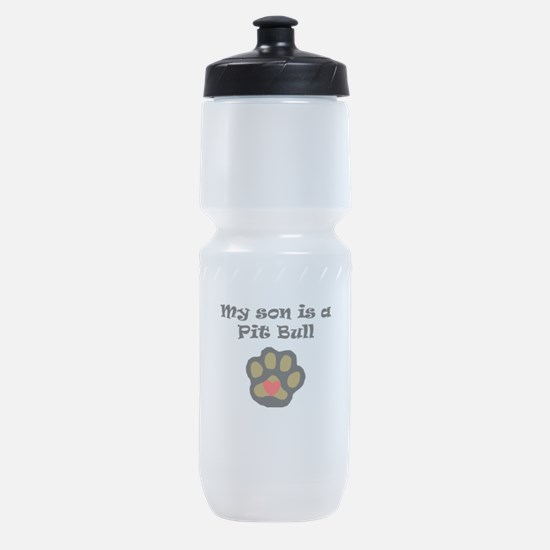 My Son Is A Pit Bull Sports Bottle