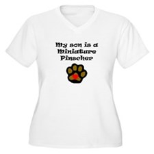 My Son Is A Miniature Pinscher Plus Size T-Shirt