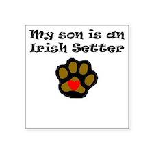 My Son Is An Irish Setter Sticker