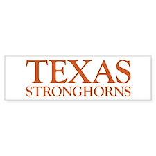 Texas Stronghorns Bumper Bumper Sticker